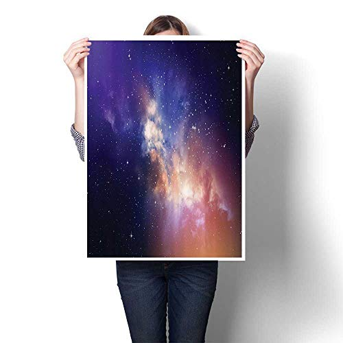 (1-Piece 100% Paintings in Sky Supernova ComCstellati Light Years Meteor Planetary Bathroom Bedroom Office Wall Art Home Decoration,12
