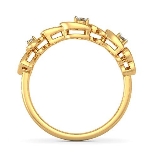 Or jaune 18K, 0.07carat Diamant Blanc (IJ | SI) en diamant