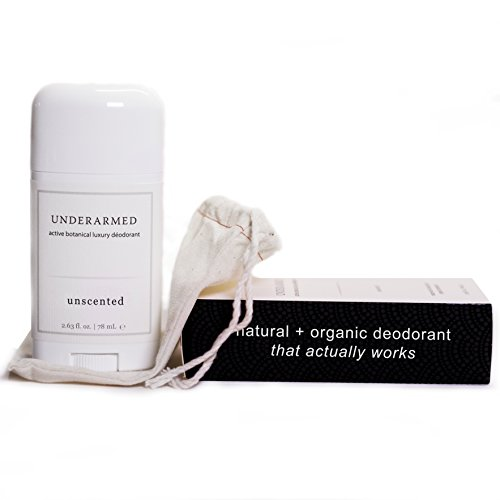 Natural Unscented Deodorant Stick (That Works) Aluminum-Free Underarmed for Women & Men - Stay Fresh All Day - Organic, Healthy, Safe, Non Toxic - Phthalate, Paraben, Gluten & Cruelty Free (Best Rated Natural Deodorant)