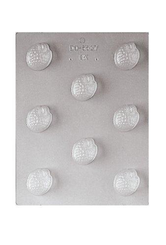 Paderno World Cuisine 8 Imprint 1-1/2-Inch Polypropylene Chocolate Mold, Raspberry ()