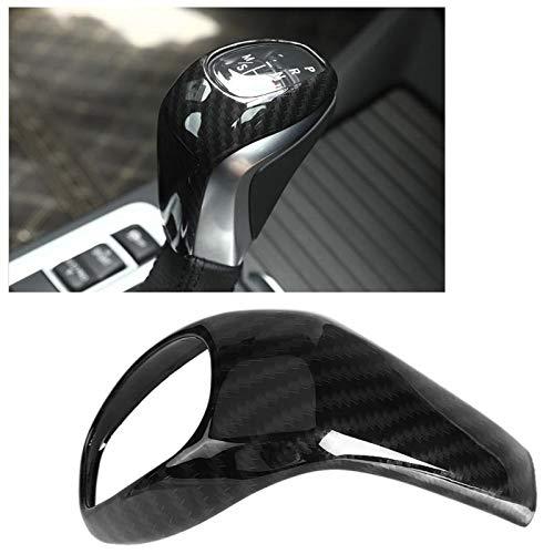 Auto Versnellingspookhoes Shifter Knop Carbon Fiber Stijl Car versnellingspookknop Head Cover Trim Frame Compatibel met…