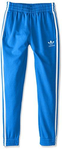 adidas Originals Boys' Superstar Track Pants, Blue Bird/White, Small