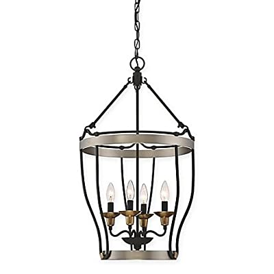 Quoizel Castle Hill 4-Light Chandelier in Antique Nickel