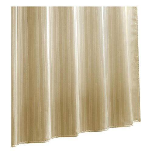 Linen Damask Fabric (Ex-Cell Damask Stripe Fabric Shower Curtain Liner,)