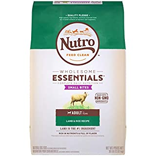 NUTRO WHOLESOME ESSENTIALS Adult Small Bites Natural Dry Dog Food Small Kibble Lamb & Rice Recipe, 30 lb. Bag