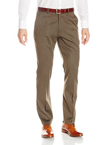 Perry Ellis Men's Solid Slim Fit Pant, Rain Drum, 30x30 ()