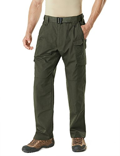 CQ-TLP105-GRN_32W/32L CQR Men's Tactical Pants Lightweight EDC Assault Cargo - Pants Lightweight Hunting