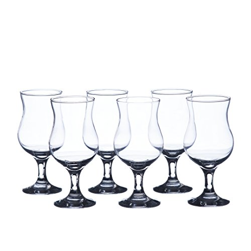 MADERIA Hurricane Cocktails Glasses Sets, 13 oz. (6-piece set, 12-piece set), Durable Tempered Glass, Restaurant&Hotel Quality (12)