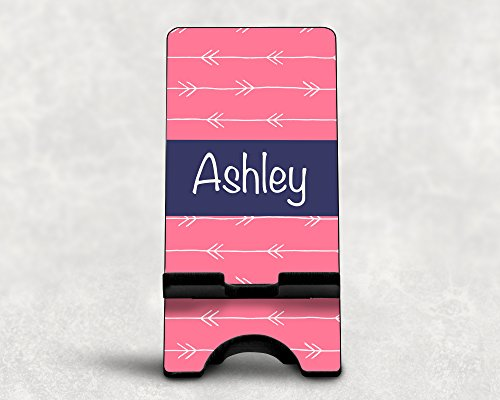 Personalized White Arrows Smart Phone/Smart Device Stand for iPhones and Other Devices ()
