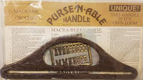 Purse-N-Able Plastic Macrame Crochet Craft Purse Handles (Wood Grain) ()