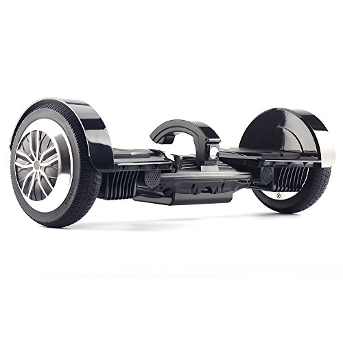 Off Road UL2272 Certified Hoverboard Smart Self Balancing Scooter with Bluetooth, LED Lights on Both Sides- Black
