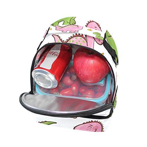 ajustable pincnic de diseño para escuela con con aislante dinosaurio Bolsa para la almuerzo correa de de hombro el Alinlo wqCFvUn
