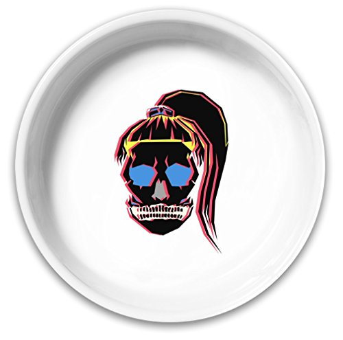 Sugar Skull Girl Dog Bowl| Solid