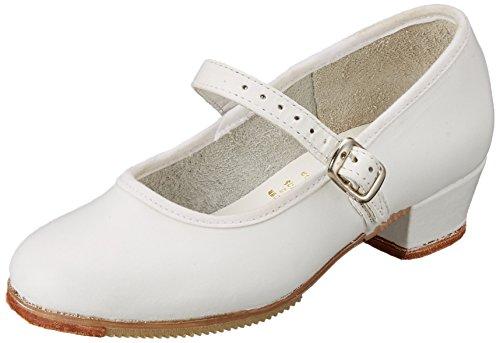 Miguelito F1740PB200 Zapatos de Tacón para Niñas, Color Blanco, 20