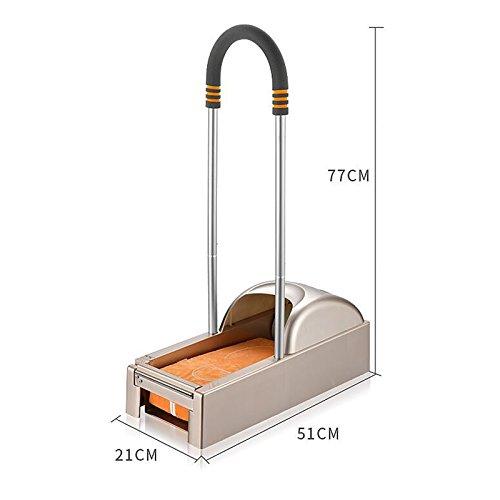MIAO@LONG Automático Portátil Caja Cubierta Zapato Casa Desechable Protección Del Medio Ambiente Máquina De Cubierta De Zapatos, Oro Anaranjado,Silver: ...