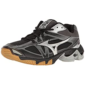 Mizuno Women's Wave Bolt 6 Volleyball-Shoes, Black/Silver, 8 B US