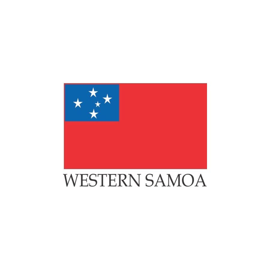Western Samoa Table Desk Flags 4 x 6 inches