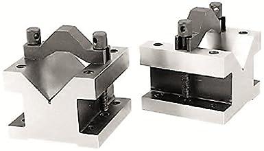 HHIP 3402-0003 4-1//8 L X 4-1//8 W X 3-1//16 H PRECISION V-BLOCK /& CLAMP SET