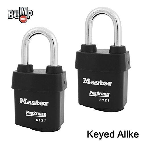 - Master Lock - Two (2) High Security Pro Series Padlocks 6121NKALF-2 w/BumpStop Technology