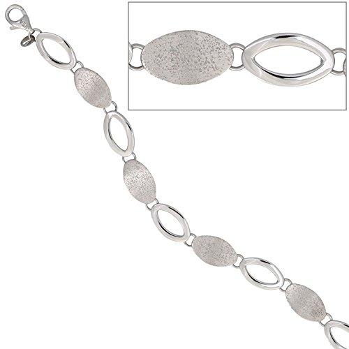 Bracelet couleur les bracelets en argent sterling 925 partiellement dépoli pour femme 19 cm