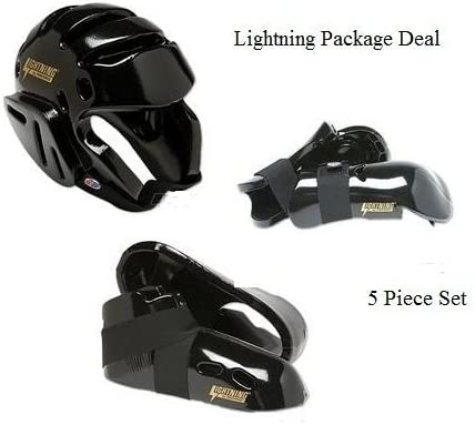 Lightning 黒 Karate Sparring Gear Package Deal - Child Small