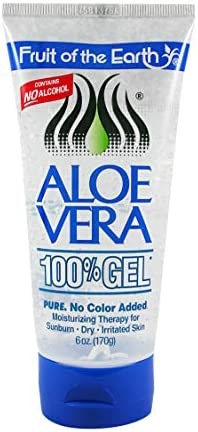 Fruit of the Earth Aloe Vera 100 Gel 6 oz Pack of 6
