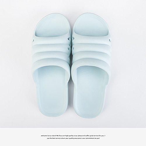 donne soggiorno freddo indoor fankou coppie da Home in bagno il plastica antiscivolo estate ciabatte Azzurro 39 Sig bagno morbida 38 con ra pantofole aYXq7wY