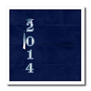 ht_179318_2 Beverly Turner Graduation Design - 2014 with Cap and Tassel, Royal Blue - Iron on Heat Transfers - 6x6 Iron on Heat Transfer for White Material