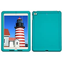 Bobj Rugged Case for iPad 2017 9.7 inch - BobjGear Custom Fit - Patented Venting - Sound Amplification - BobjBounces Kid Friendly (Not for iPad Pro 10.5) (Terrific Turquoise)