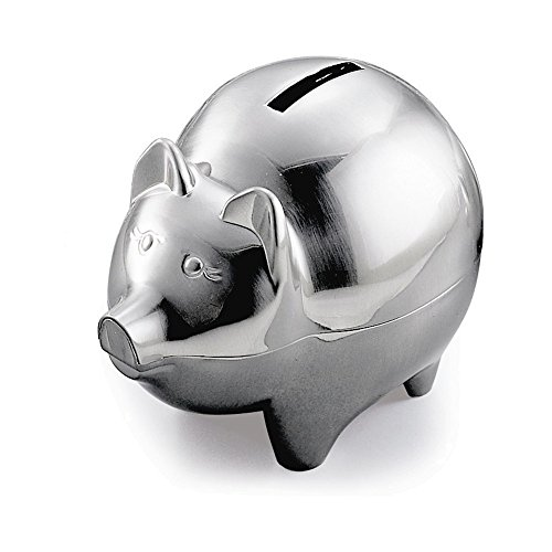 Jewelry Adviser Gifts Pewter Finish Pig (Pig Italian Charm)