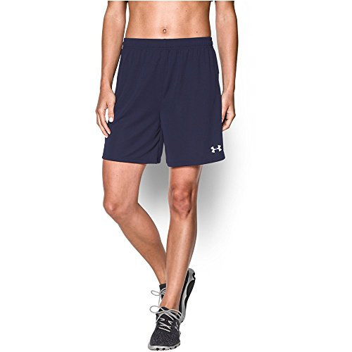 Under Armour Women's Golazo Soccer Shorts, Midnight Navy/White, X-Small (Rugby Womens Navy)