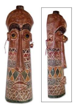 NOVICA Máscara de madera, Poder y autoridad: Amazon.es: Hogar