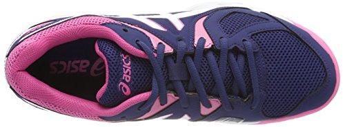 Asics Blue 3 Badminton Gel Pink Indigo White Femme Chaussures de Azalea Bleu Hunter rwrqAzEWB