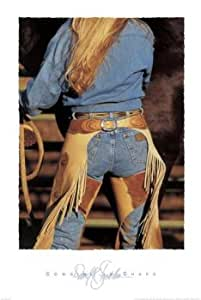 Cowgirl in Chaps, Art Poster by David Stoecklein