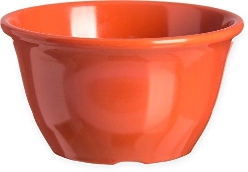 Carlisle 4305052 Durus Melamine Bouillon Cup, 13 Oz., Sunset Orange (Pack of 48)