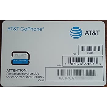 Amazon.com: At&t Nano SIM Card for iPhone 5, 5c, 5s, 6, 6 ...