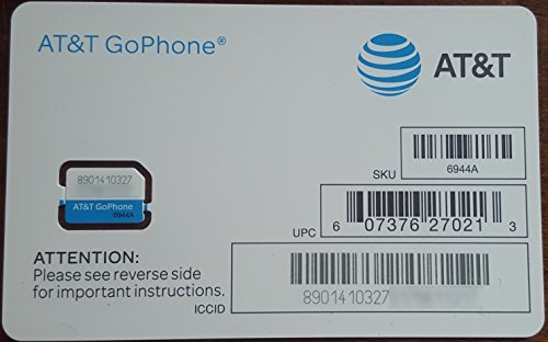AT&T SIM Card, Compatible with Prepaid (GoPhone) and Postpaid AT&T Cellular Service (Nano) (Card Sim Gophone)