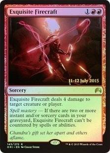 Magic: the Gathering - Exquiste Firecraft (143/272) - Prerelease & Release Promos - Foil