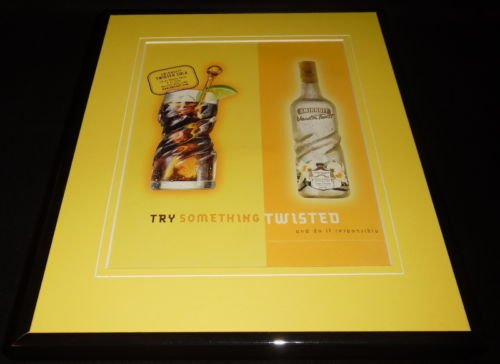 (2003 Smirnoff Vanilla Twist Vodka 11x14 Framed ORIGINAL Vintage Advertisement)
