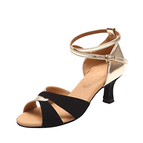 Miyoopark - salón mujer Black/Gold-5.5cm Heel