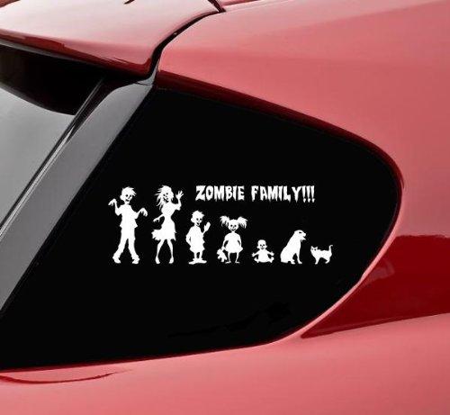 zombie family bumper sticker - 6