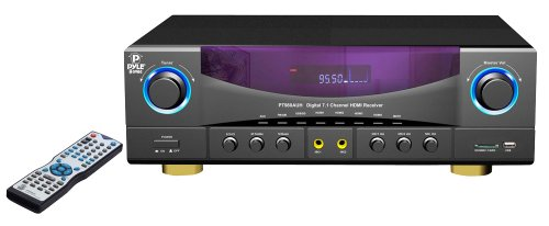 Pyle Home PT980AUH 7.1-Channel 350 Watts AM/FM Radio with USB/SD Card and HDMI Amplifier Receiver by Pyle