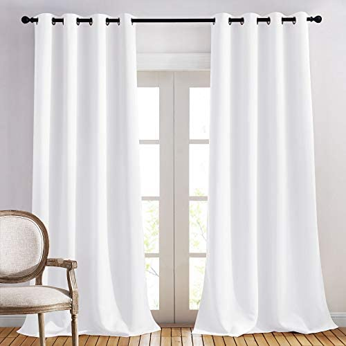 NICETOWN Long White Curtain