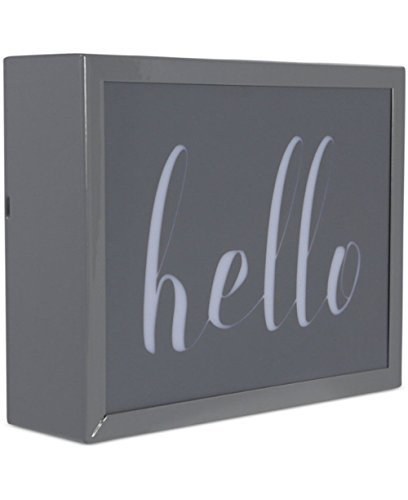 Studio Mercantile LED Metal Shadow Box HELLO