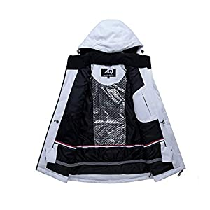 PEIN Men/Woman/Ski Suits/Jacket And Pants/Windproof And Waterproof Outdoor Clothes/Winter Sports/white Top/Black Pants/Couple Suit,ski suits-XL