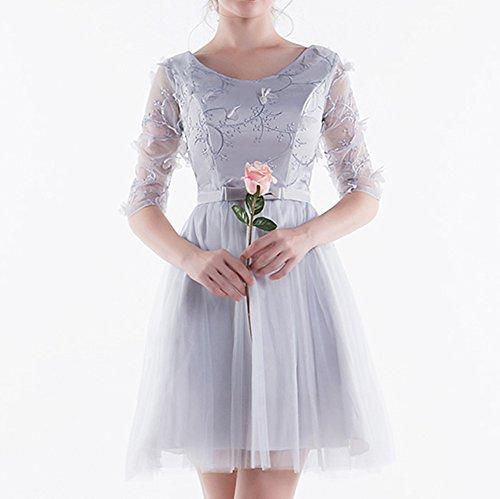 tulle de demoiselle Robes soire de soire Appliqu du robe courte longueur bal lgante perler Robes de de applications Scothen robe Femme perlage soir en robe robes dentelle d'honneur soire 1 genou qnwWx67xFZ