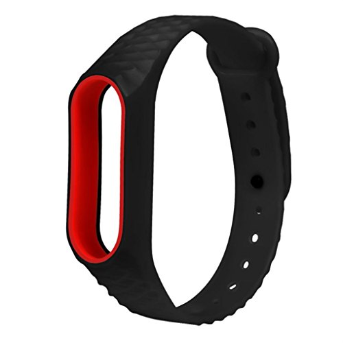 For XIAOMI MI Band 2,Outsta New Fashion Original Silicon Wrist Strap WristBand Bracelet Replacement (Black)