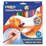 Dixon Prang Colored Pencils, 3.3MM Regular Core, 7-Inch Long, 48 Color Set DIX22480