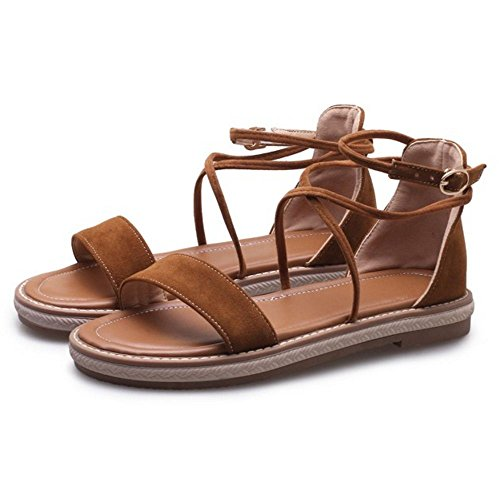 Chaussures Bout Ouvert Femmes Platess Brown TAOFFEN xwt5SqEBE