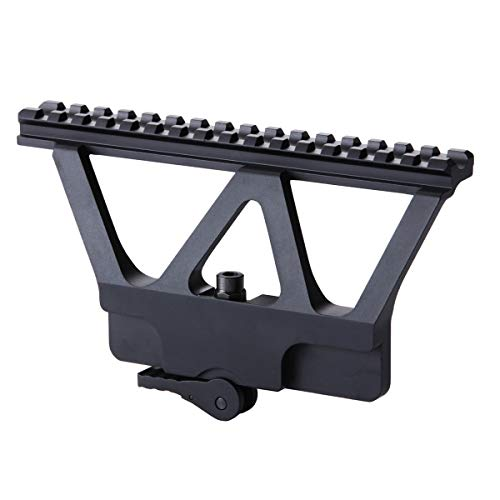 FANGHUA Side Rail Mount A-K Type Scope Rail Mount 20mm Picatinny Weaver for QD Quick Detachable Side Scope Mount Black
